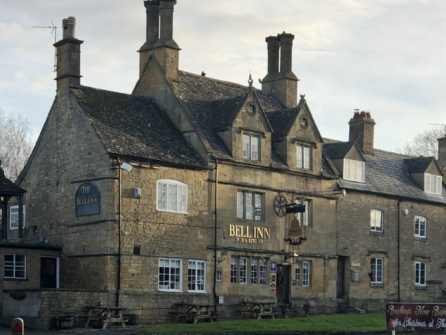 The Bell Inn, Willersey, on adventures in our van blog